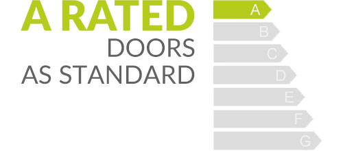 A rated doors as standard