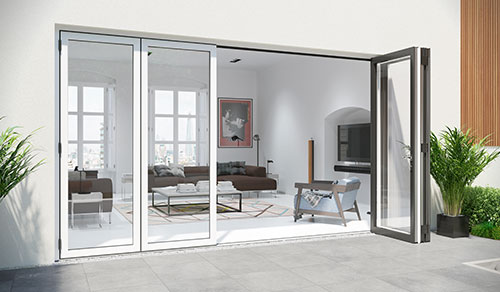 Dual Colour aluminium bifold door