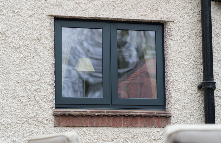 Grey aluminium window