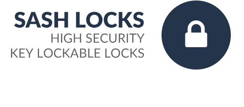 Highly secure sliding sash locks