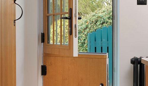 Dual colour composite stable door