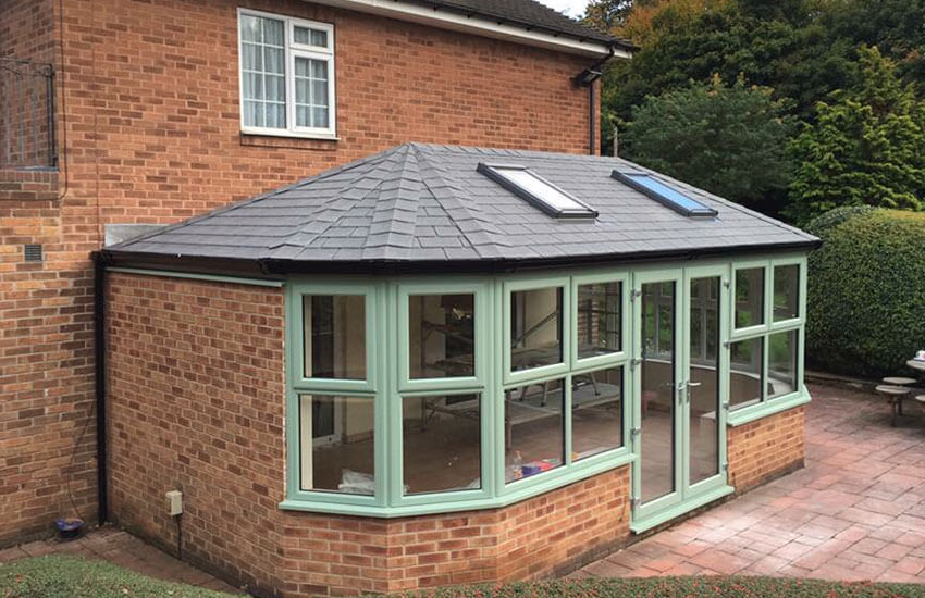 Tiled roof on chartwell green conservatory