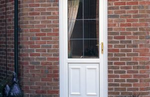 White uPVC rear door