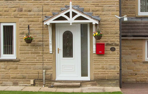 White uPVC Front entrance door