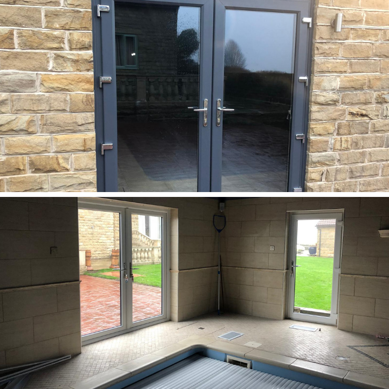 New door and interior