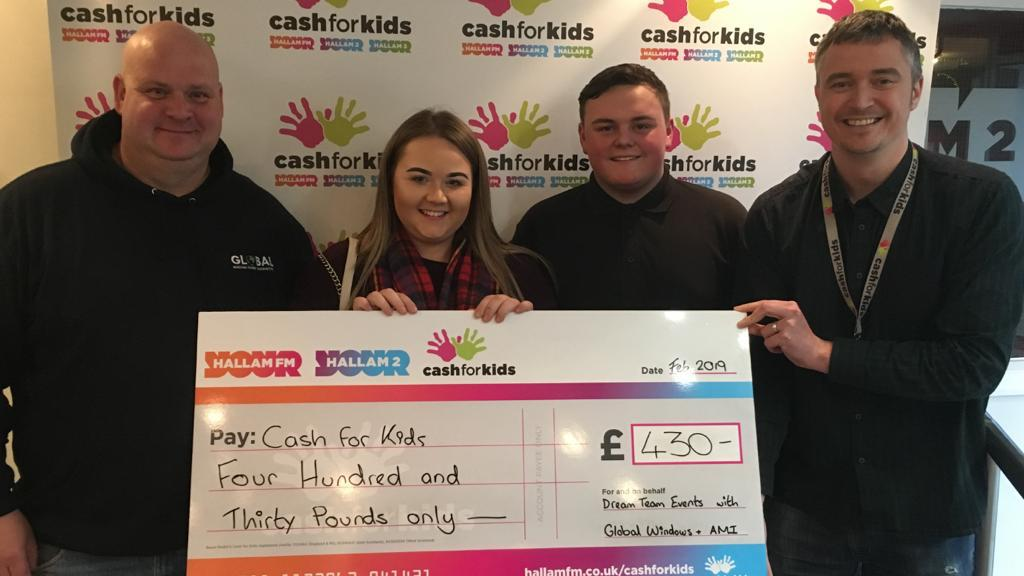 Cash for Kids cheque
