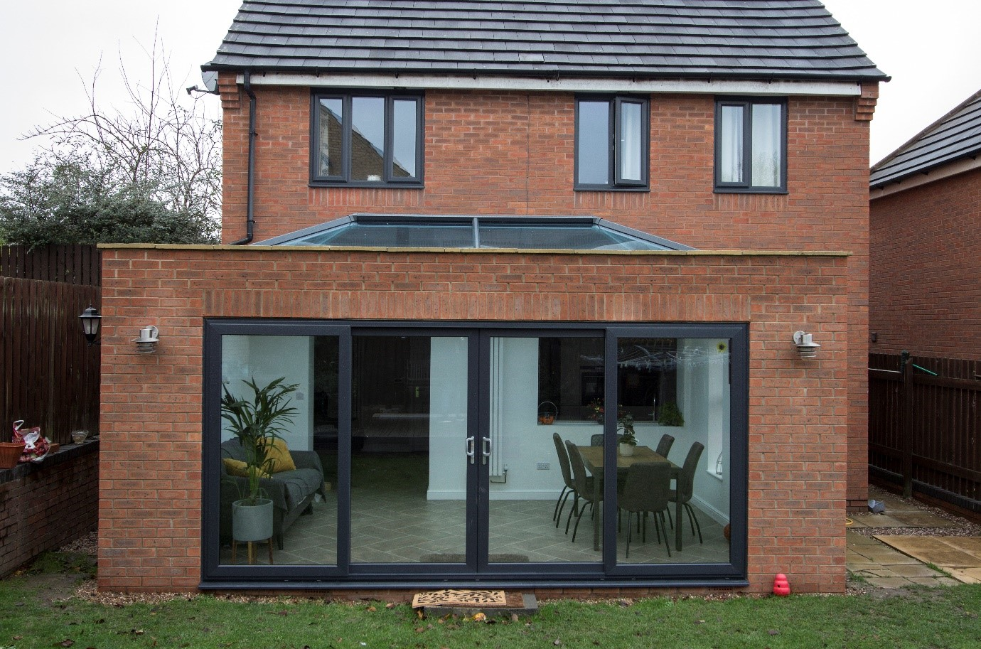Swallownest orangery and sliding patio door