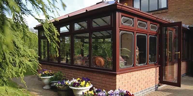 uPVC Rosewood conservatory