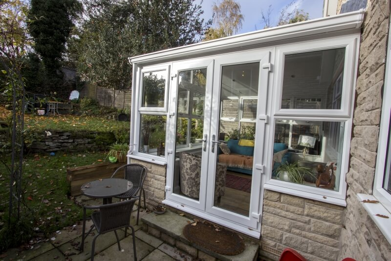 New uPVC French doors / Gable conservatory