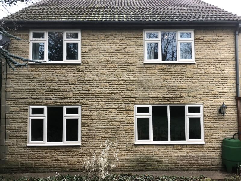 Four contemporary cream casement windows