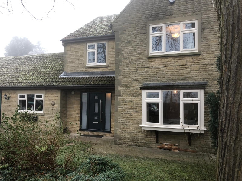 New uPVC windows on a home