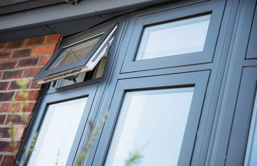 Black Ash uPVC Flush Sash Windows