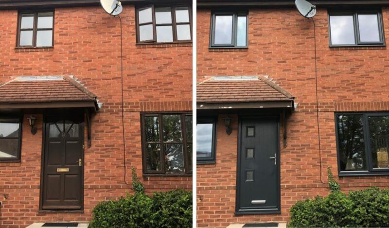 Old windows vs new anthracite grey windows