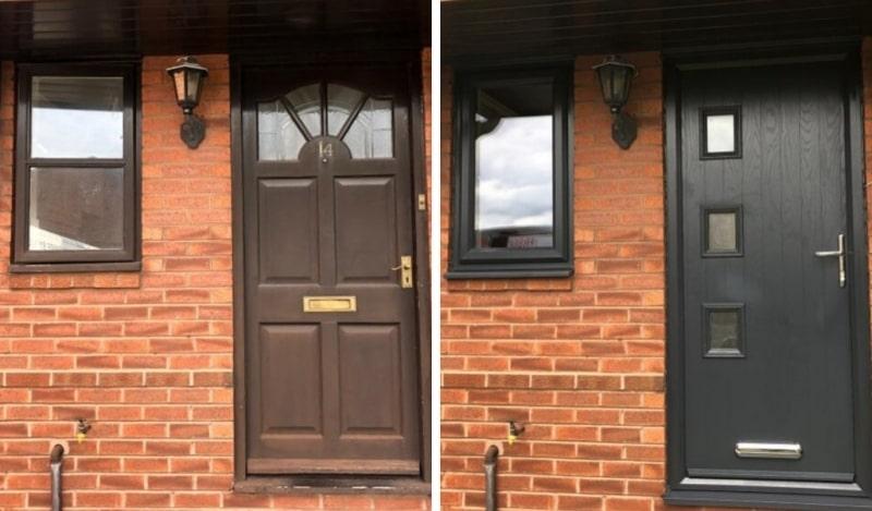 Old timber door vs a new composite door