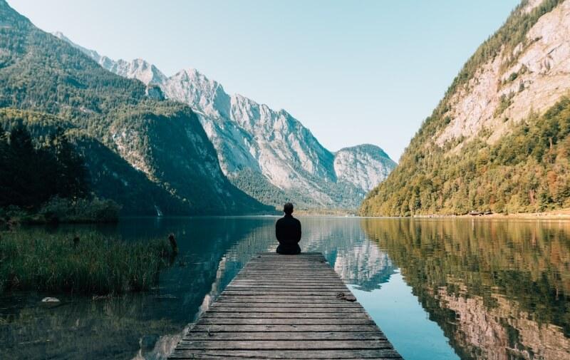 Meditation in a valley