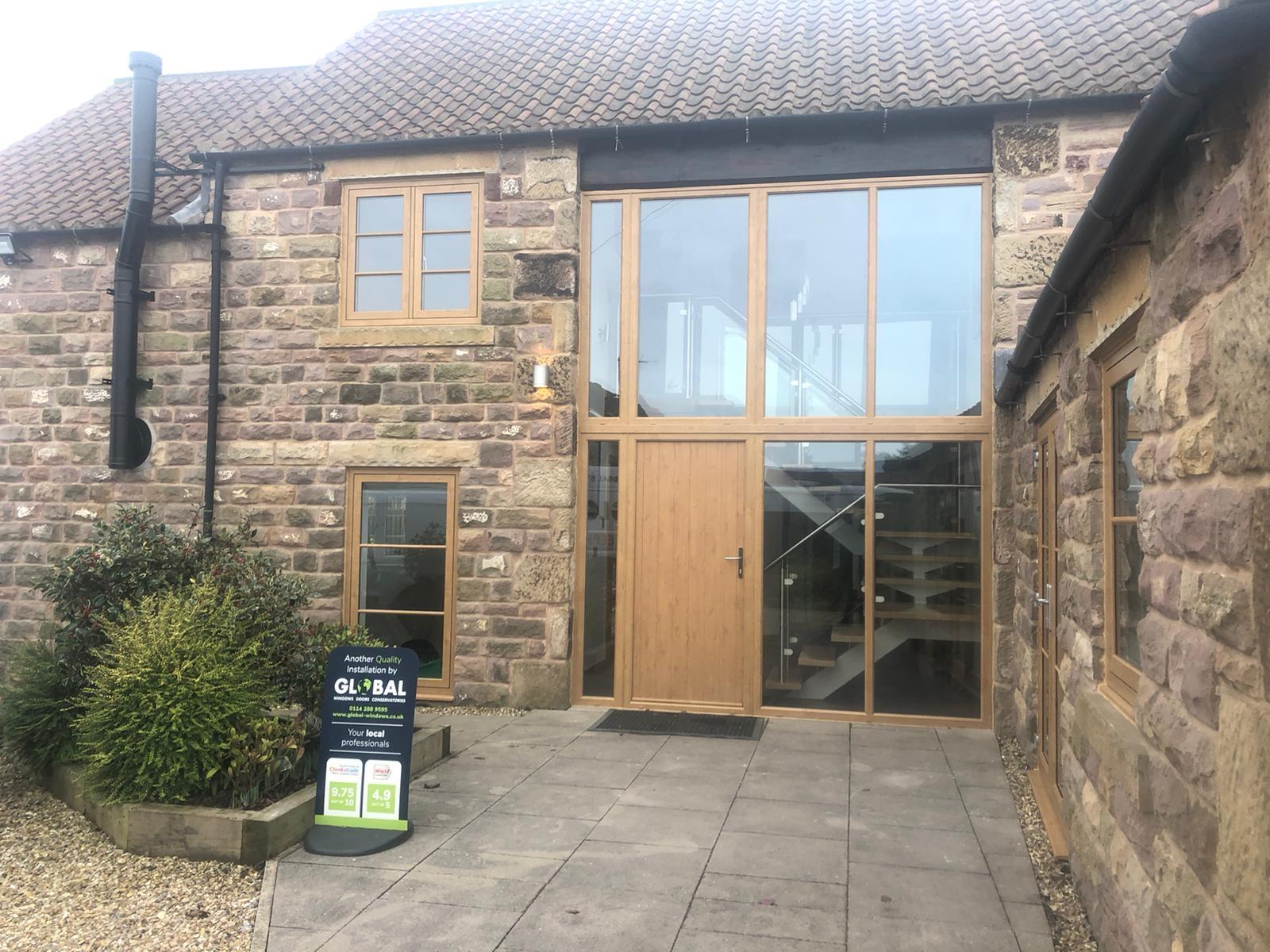 Irish oak entrance door area