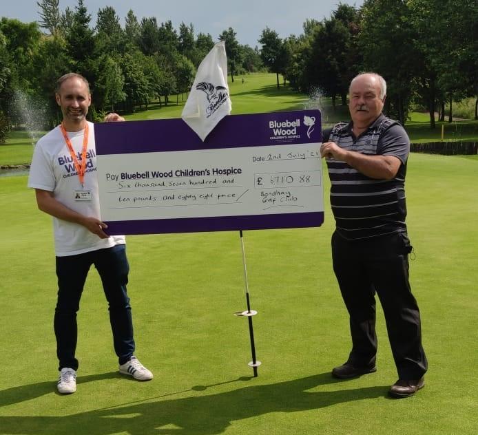 Golf day donation